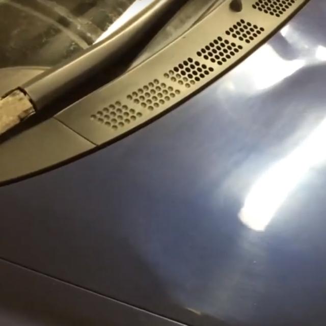 Ремонт вмятин без покраски на капоте Honda