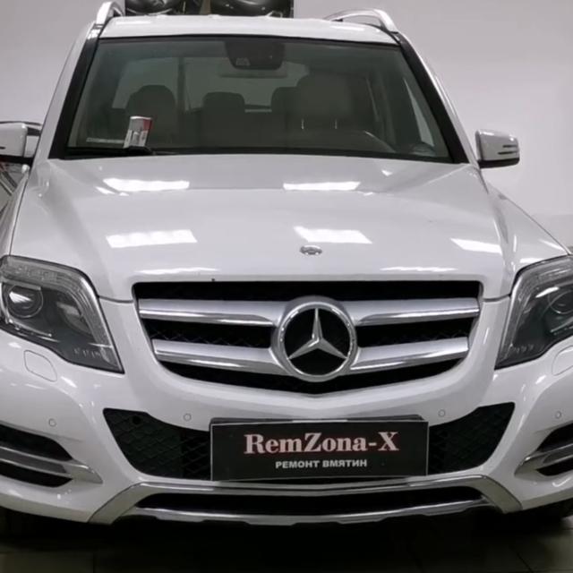 Видео ремонта вмятин на Mercedes-Benz GLK