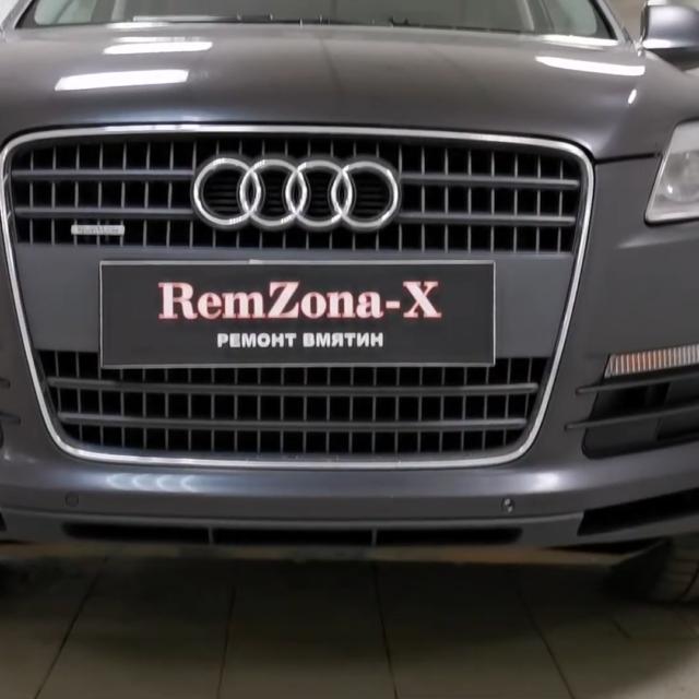 Ремонт вмятин без покраски в Москве на автомобиле Audi Q7