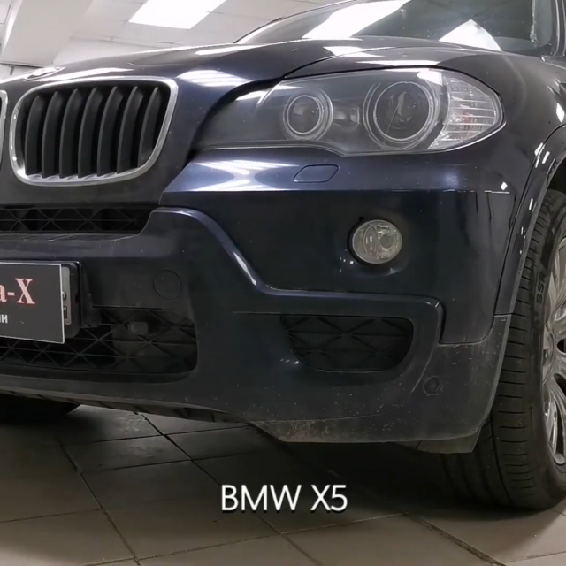Ремонт вмятин без покраски в Москве на автомобиле BMW X5