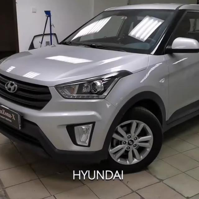 Ремонт вмятин без покраски в Москве на автомобиле Hyundai Creta