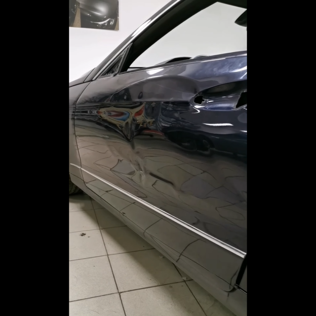 Ремонт вмятин на автомобиле Mercedes-Benz E-class
