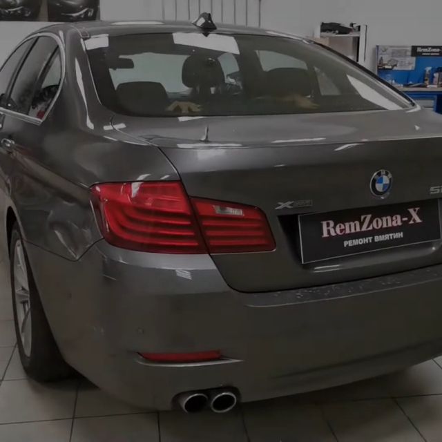 Ремонт вмятин без покраски на автомобиле BMW 528I
