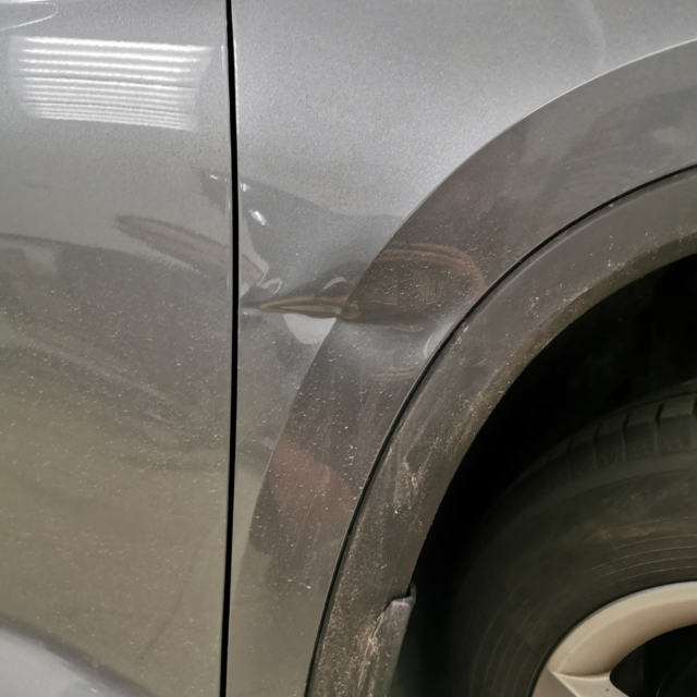 Автомобиль Skoda Kodiaq- Вмятина на крыле
