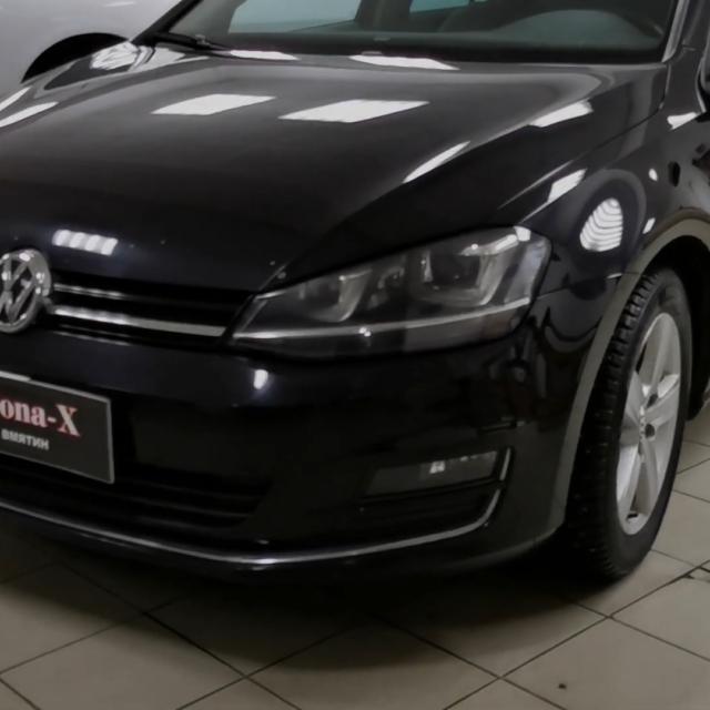 Ремонт вмятин без покраски на автомобиле Volkswagen Golf