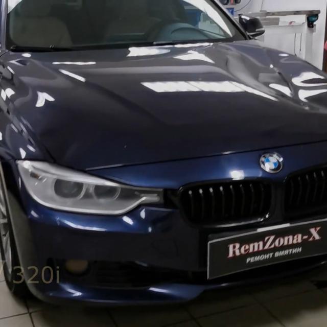 Ремонт вмятин без покраски на автомобиле BMW 320i
