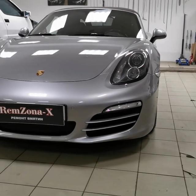 Ремонт вмятин без покраски на автомобиле Porsche Boxter